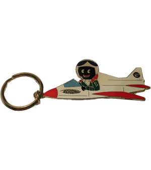 Golliwog on a plane Key Ring