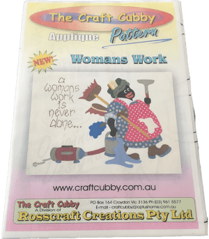 Craft Cubby Applique Pattern: WOMANS WORK