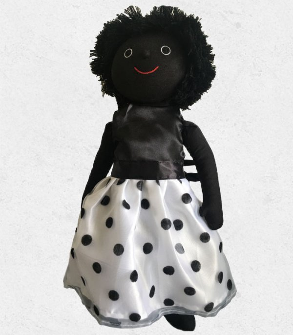 Black and White Dress suitable for 18in Golly