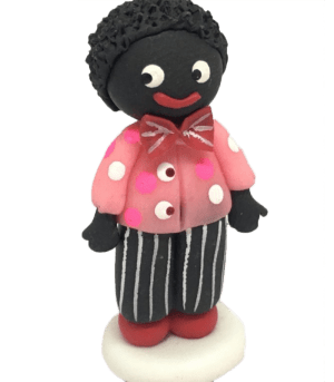 Miniature Boy Golly 3cm tall in Black and pink
